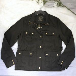 [J. Crew Factory] NWT Resin-Coated Twill Jacket